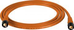 Laird Digital Cinema T1694-B-B-150-OE Laird Belden 1694A RG6 w/ Trompeter UPL2000 Black & Gold 3G-SDI BNC Cable - 150 Foot Orange