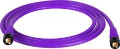 Laird Digital Cinema T1694-B-B-150-PE Laird Belden 1694A RG6 w/ Trompeter UPL2000 Black & Gold 3G-SDI BNC Cable - 150 Foot Purple