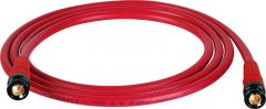 Laird Digital Cinema T1694-B-B-200-RD Laird Belden 1694A RG6 w/ Trompeter UPL2000 Black & Gold 3G-SDI BNC Cable - 200 Foot Red