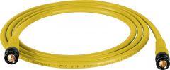 Laird Digital Cinema T1694-B-B-75-YW Laird Belden 1694A RG6 w/ Trompeter UPL2000 Black & Gold 3G-SDI BNC Cable - 75 Foot Yellow