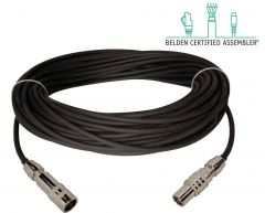 Laird Digital Cinema TX-1858AMF-328 Laird Belden 1858A Flexible RG11 & Kings Tri-Loc Male to Female Triax Cable - 328 Foot