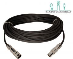 Laird Digital Cinema TX-1858AMF-50 Laird  Belden 1858A Flexible RG11 & Kings Tri-Loc Male to Female Triax Cable - 50 Foot