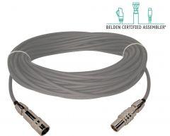 Laird Digital Cinema TX-1859A-50 Laird  Belden 1859A Plenum RG11/U & Kings Tri-Loc Male to Female Triax Cable - 50 Foot
