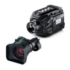 Blackmagic Design URSA Broadcast Camera & Fujinon XA20sx8.5BERM-K3 ENG MS-01 Semi Servo Rear Control Accessory Kit