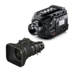 Blackmagic Design URSA Broadcast Camera & Fujinon XA20SX8.5BRM-K3 8.5-170mm MS-01 Semi Servo Rear Control Accessory Kit