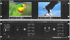 Marshall Electronics V-MD702 Marshall  Dual 7in 3RU High Resolution LCD Rack Mount Monitor w/ Modular Input and Output