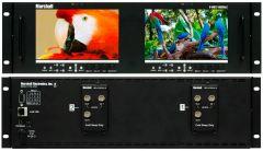 Marshall Electronics V-MD72-HDSDIX2 Marshall V-MD72-HDSDIx2 Dual 7 Inch LCD Rack Mount Monitor