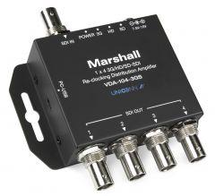 Marshall Electronics VDA-104-3GS Marshall  1x4 3G/HD/SD-SDI Reclocking Distribution Amplifier