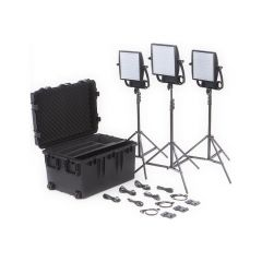 Litepanels 935-3202 Astra 6X Traveler Bi-Color Trio 3-Light Kit...