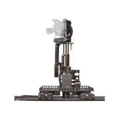 Vinten V5010-FE Radamec Track Dolly & Robotic Head w/ Elevation...