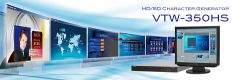 For-A HD/SD Single Video/Key Character Generator - VTW-350HS